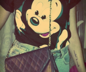 fashion, girl, and mickey mouse image