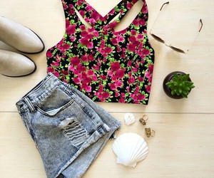 outfit, summer, and floral image