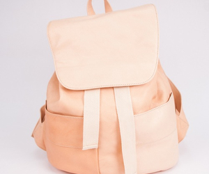 backpack, beige, and loveit image