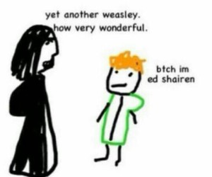 ed sheeran, harry potter, and snape image