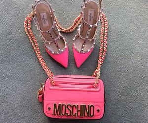 Moschino, fashion, and pink image