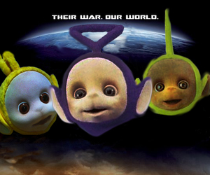 funny, movie poster, and teletubbies image