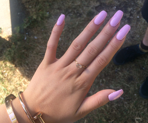 beauty, pink, and acrylic nails image