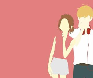 anime, cute couple, and manga girl image