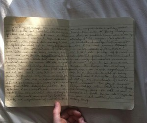 diary, hands, and journal image