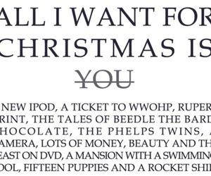 christmas, ipod, and text image