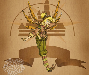 disney, steampunk, and tinker bell image