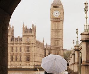 london, Big Ben, and umbrella image