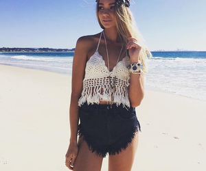 beach, clothes, and summer image