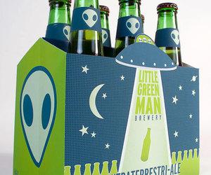 beer, bottle, and design image