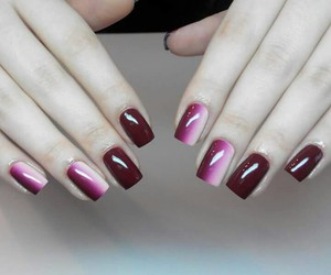 cherry, hombre, and nails image
