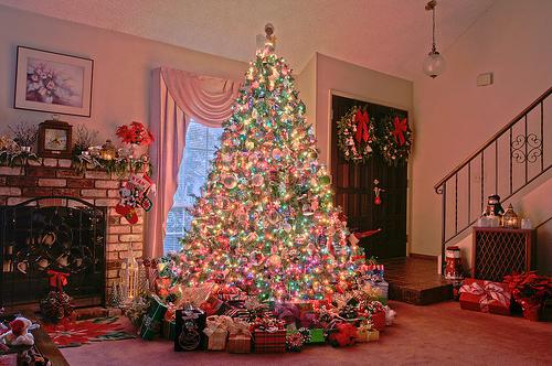 Christmas Christmas Tree Lights Pink Inspiring Picture On Favim Com