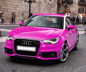 audi, cars, and pink image
