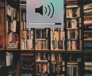 book, library, and music image