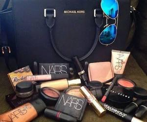 make up, nars, and makeup image