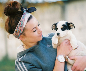 girl, dog, and cute image
