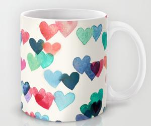 heart, mug, and pattern image