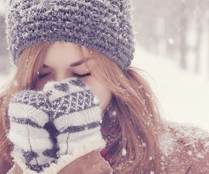 girl, snow, and sweet image