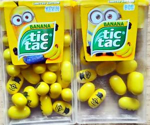 minions, banana, and tic tac image