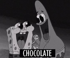 chocolate, spongebob, and patrick image
