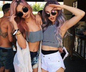 girls, hair, and style image