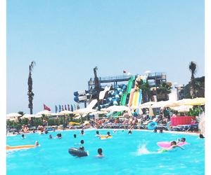beach, fun, and pool image