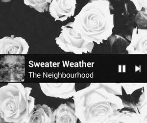 black and white, Lyrics, and sweater weather image