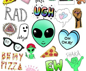 alien, background, and grunge image