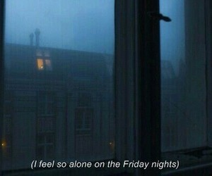 alone, night, and friday image