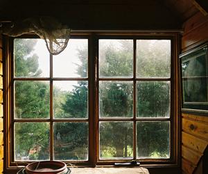 window, vintage, and wood image