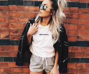 fashion, long hair, and street style image
