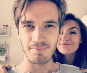 pewdiepie, couple, and youtube image