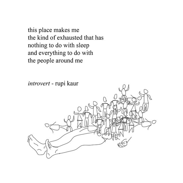 introvert poem by rupi kaur on we heart it