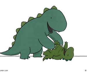 dad, dinosaurs, and liz climo image