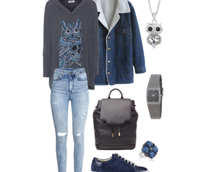 acid wash jeans, blue, and book image