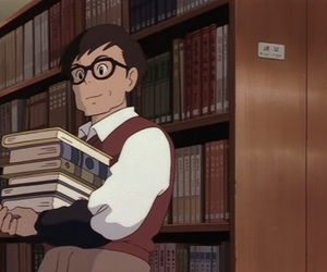anime, books, and library image