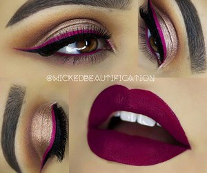 makeup, lipstick, and lips image