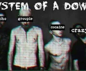 black and white, system of a down, and soad image