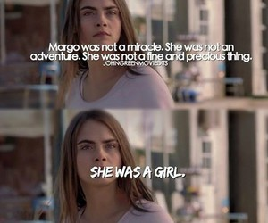 paper towns, girl, and quote image