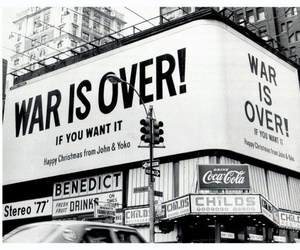 war, john lennon, and over image