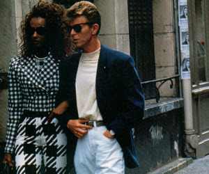 couple, david bowie, and fashion image
