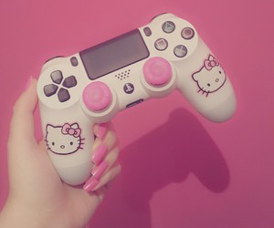 console, girly, and pink image