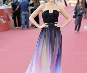 dress, lily collins, and elie saab image