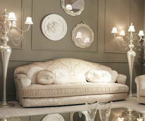 sofa, light colors, and newclassic image