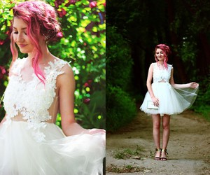 tulle and white image