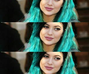 blue, hair, and makeup image