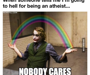 atheist, funny, and hell image