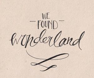 wonderland, Lyrics, and quote image