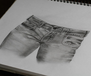jeans, drawing, and art image