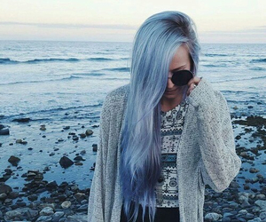 blue, hair, and girl image